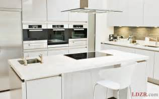 Small Kitchen Furniture Small Kitchen With Modern White Furniture Home Design