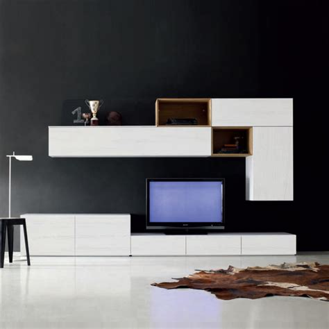 modern tv units for living room tv media unit white for modern living room by santa lucia