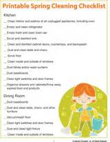 spring cleaning checklist room by room printable spring cleaning checklist room by room
