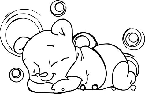 sleeping coloring page sleeping baby winnie the pooh coloring page
