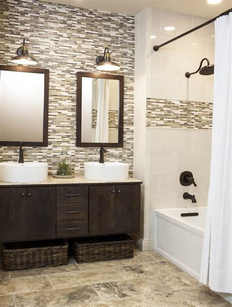 mosaic tile bathroom ideas 40 brown mosaic bathroom tiles ideas and pictures
