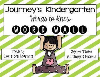 Journeys Gift Card Pin - journey s word wall cards kindergarten stripes journeys kindergarten and