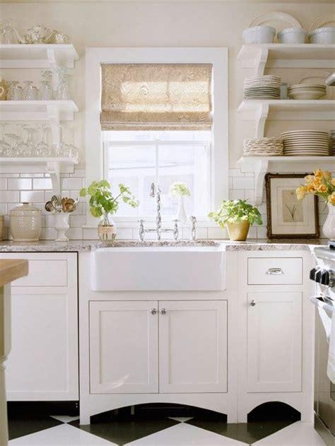 Sink Shelves Kitchen White Kitchen Open Shelves Farm Sink Kitchen Updates