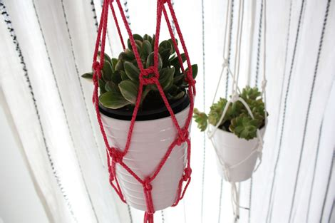 Potted Plant Hangers - enjoy it by elise blaha cripe material 4 of 27 rope