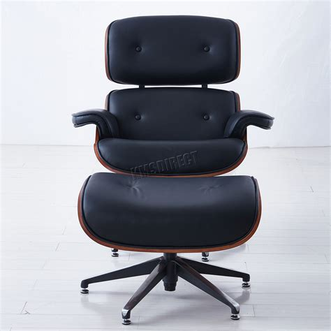 genuine leather chair and ottoman foxhunter luxury lounge chair and ottoman genuine leather