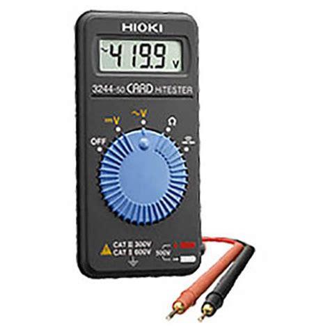 Multimeter Hioki hioki test and measurement instruments 3244 50 card hitester digital multimeter hioki 3244 50