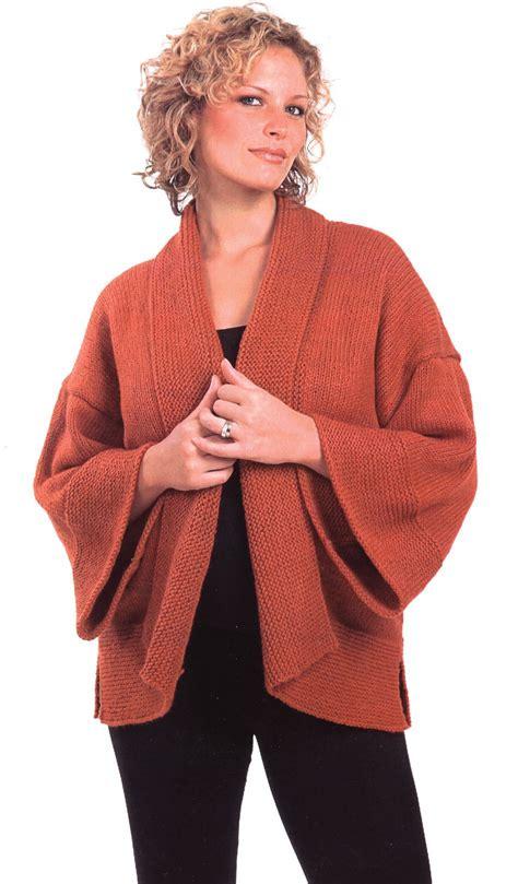 knitting pattern kimono jacket kimono stockinette stitch with garter border knitting