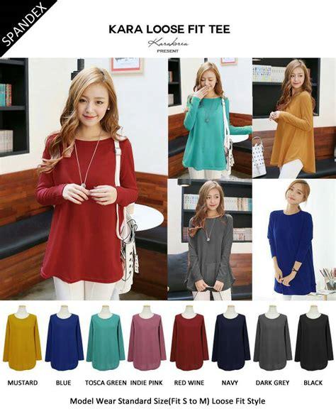 Kaos Lengan Panjang Baju Quiksilver M L Xl 1 jual blouse korea baju kaos lengan panjang polos m l xl fit martob organizer
