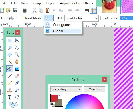 changing colors in paint net using colour picker auntie sceb