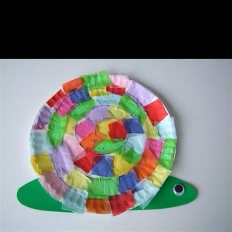 Snail Paper Plate Craft - snail crafts for this bright and colorful paper