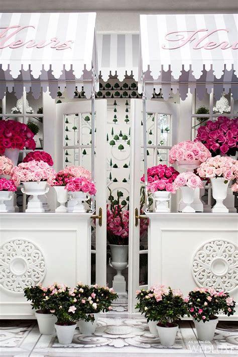 springtime  paris flower shop interiors springtime