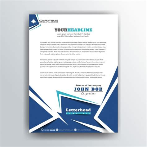 Business Letterhead Vector Free Business Letterhead In Polygonal Style Vector Free