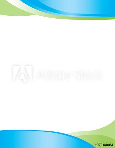 blue green letterhead background border buy stock