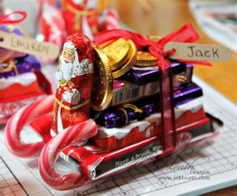 sleigh christmas crafts diy chocolate sleigh fillers crafts