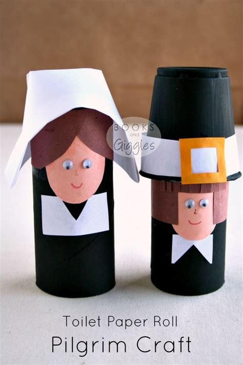Paper Roll Crafts For Preschoolers - simple toilet paper roll pilgrims and a story of the