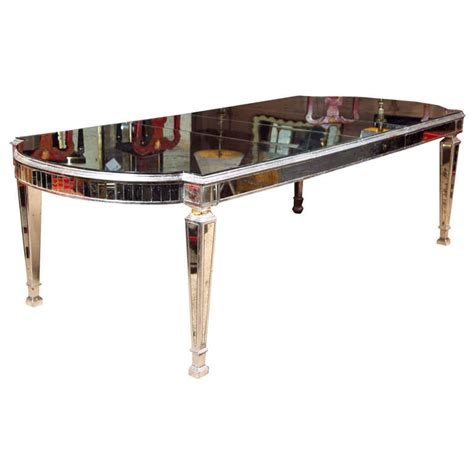 Mirrored Dining Room Tables by Vintage Mirrored Dining Table At 1stdibs