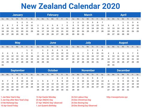 printable calendar 2014 and 2015 nz new zealand calendar 2020 printcalendar xyz