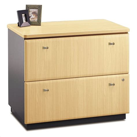 gray wood file cabinet bush bbf a 36w 2dwr lateral file in beech wc14354p