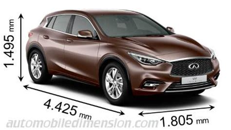dimensions  infiniti cars showing length width  height
