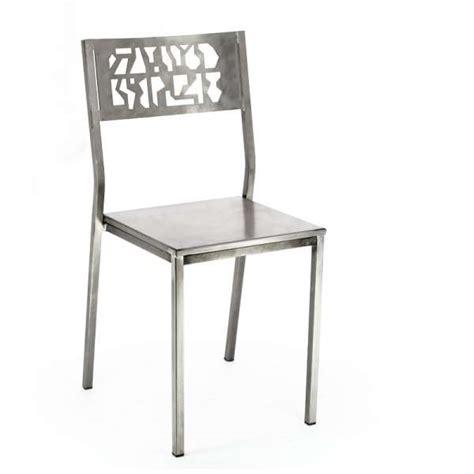 chaise industrielle metal chaise industrielle en m 233 tal bross 233 slide 4 pieds