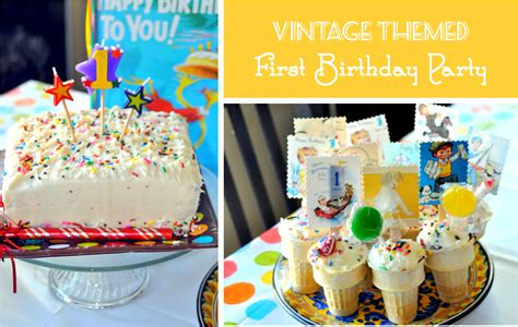 vintage themed birthday party finding my aloha vintage themed first birthday party