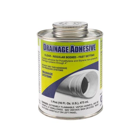 16 oz low voc drainage adhesive clear vpc 60 the home