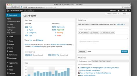 wordpress dashboard layout the wordpress com dashboard gets a beautiful makeover