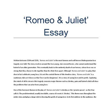 themes in romeo and juliet and exles romeo and juliet essay topics help literature