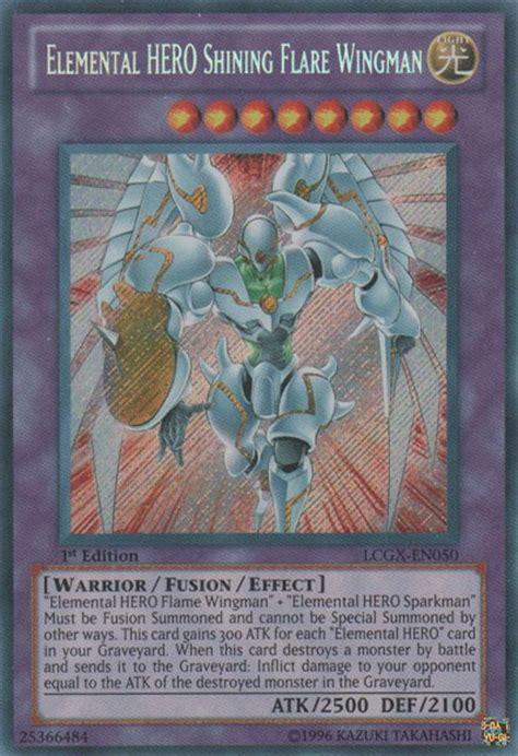 Elemental Wingman Lcgx En055 Common 1st Edition yugioh elemental shining flare wingman secret