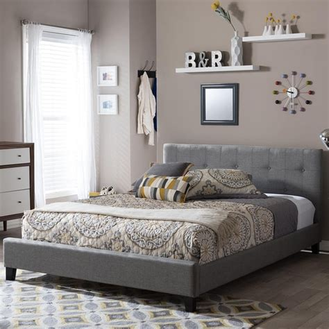 baxton studio bedroom set bedroom home design ideas baxton studio annette gray linen modern bed with covered