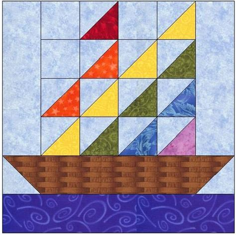 pattern block name sail away quilt block pattern by feverishquilter craftsy