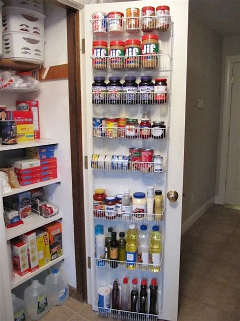 The Door Pantry Rack Home Depot by Sew Many Ways Organized Food Pantry From A Coat Closet