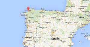 La Coruna Spain Map by Similiar Large Map Of Spain A Coruna Keywords