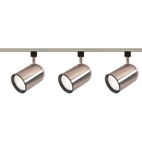Home Depot Track Lights by Envirolite 3 Ft Brushed Nickel Led Track Lighting Kit