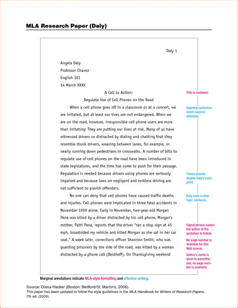 mla format essay template an mla template for word 2010