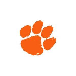 Peel And Stick Wall Murals Cheap big orange clemson tigers paw wall accent mural sticker