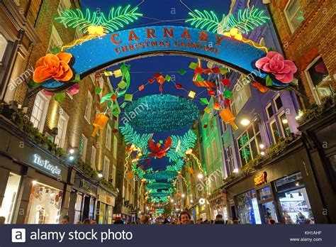 decorations christmas carnivals london xmas illuminations stock photos london xmas