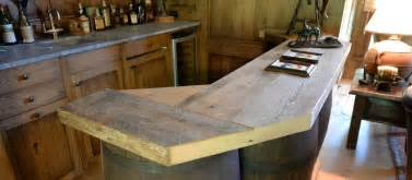 reclaimed wood counter tops table tops and bar tops