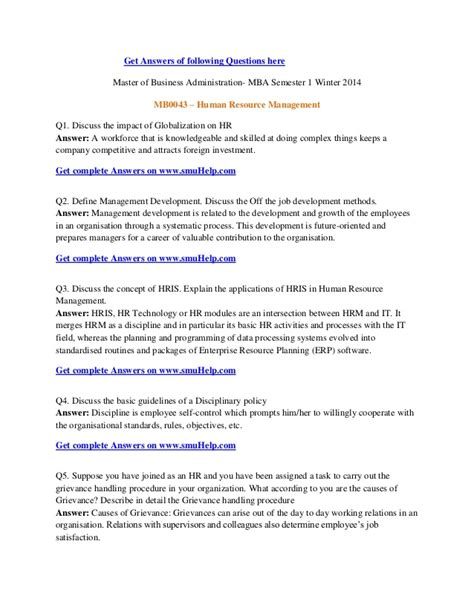 Mba Questions And Answers Of Smu by Smu Mba Semester 1 Winter 2014 Assignments Mb0043