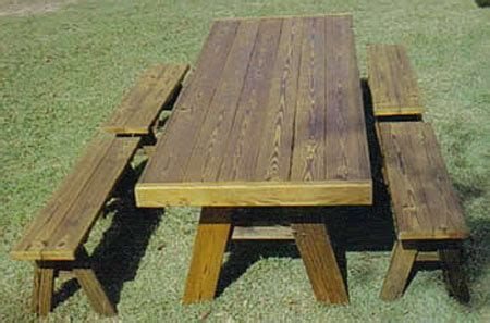 how to build a picnic table with separate benches 8 ft heavy duty picnic table with separate benches