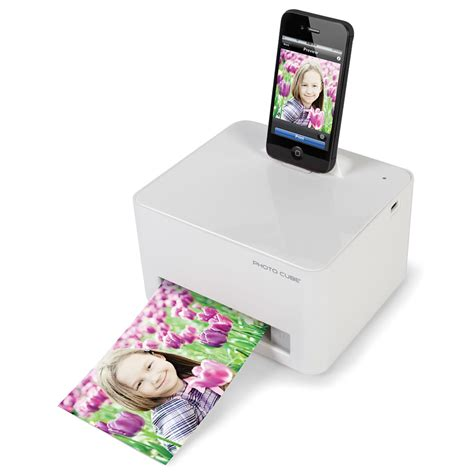 iphone picture printer the any device photo printer hammacher schlemmer