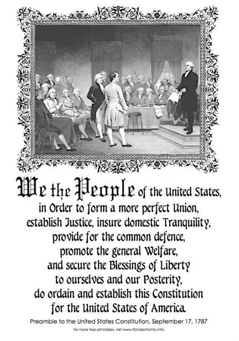 printable preamble us constitution preamble to the constitution of the united states of