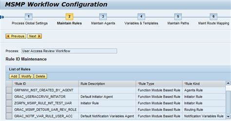 sap grc workflow configuration user access review uar workflow configuration and
