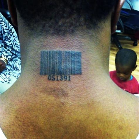 tattoo barcode neck barcode tattoo images designs
