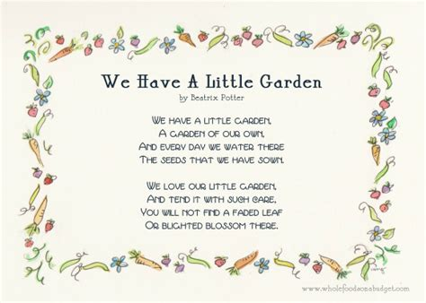 Garden Poems by Create A Wonderful And Beautiful Garden For Your Child