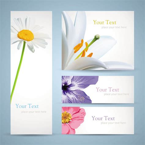 Flower Banner Free Vector Download 18 602 Free Vector For Commercial Use Format Ai Eps Cdr Flower Banner Template