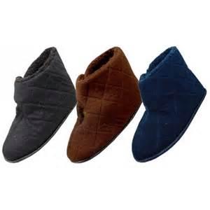 Dearfoams Bedroom Slippers men s corduroy velcro wrap bedroom boots indoor house