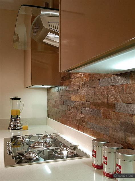 Copper Slate Subway Backsplash Tile