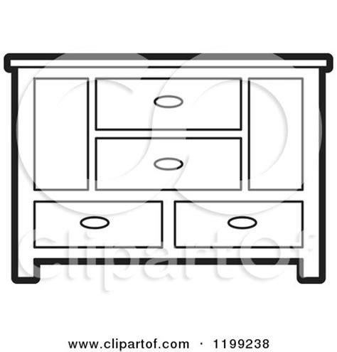 coloring page of a dresser royalty free rf clipart of cabinets illustrations
