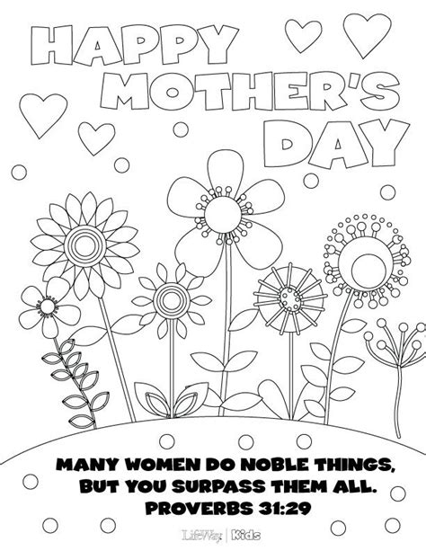 print out this mother s day coloring page for your
